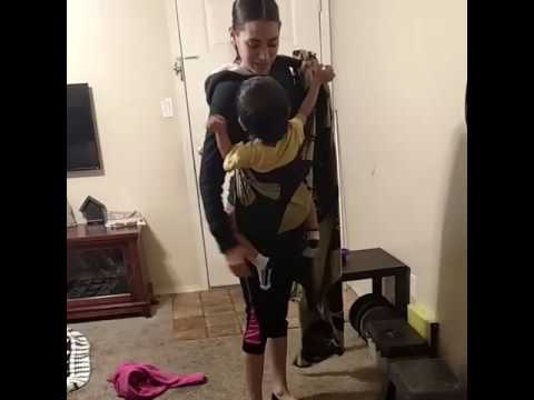 Taking My Toddler Out of a Back Carry.