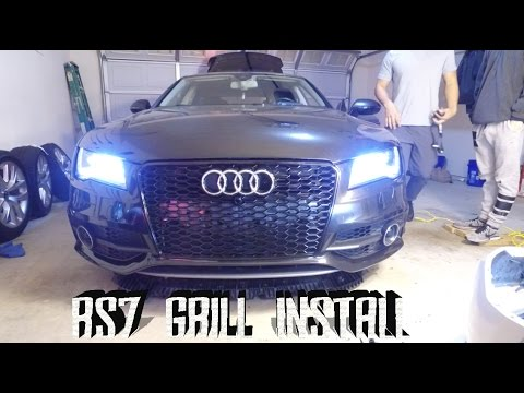 AUDI A7 FRONT GRILL INSTALL