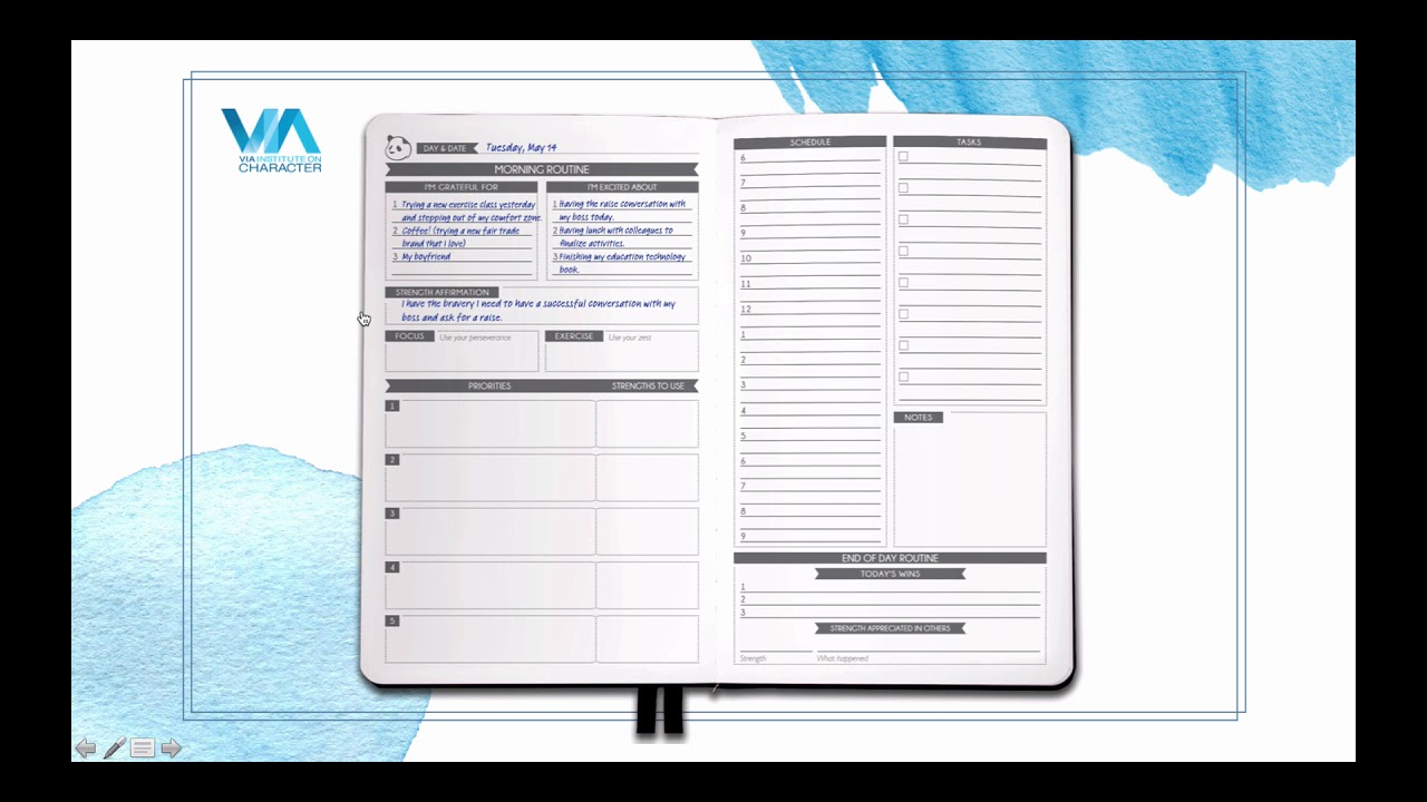 How to use your panda planner via daily section youtube for For planner