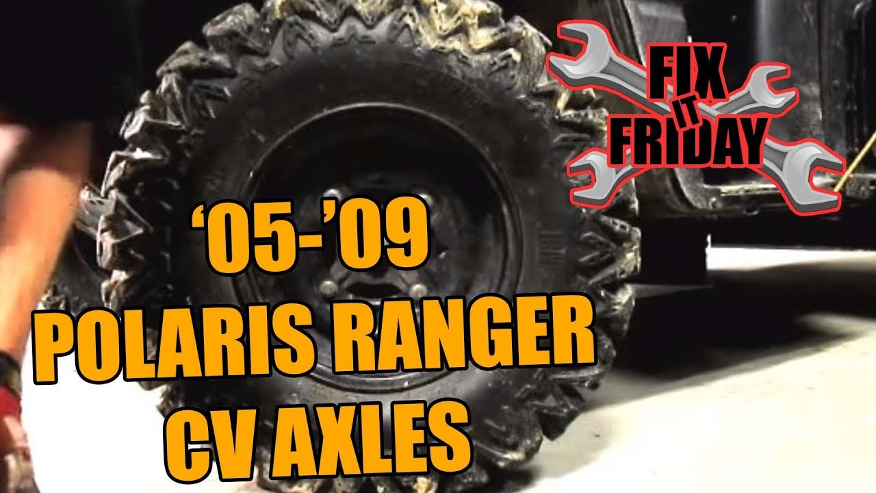 small resolution of 2005 2009 polaris ranger cv axle boot replacement