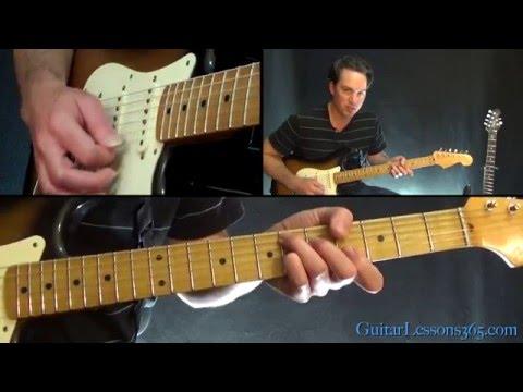 David Bowie  Lets Dance Guitar Lesson  ChordsRhythms
