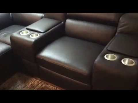 Natuzzi Editions Cinema Seating Sofa Corner Group For Home Theatres Italian Leather You