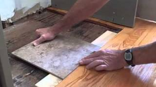 How to Make Tile Flush with Hardwood Floor