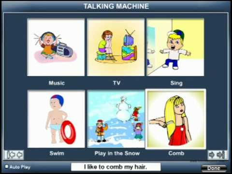 Talking Machine - www.BloomingKids.com special needs software Autism PDD
