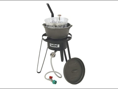 Bayou Classic B159, Outdoor Fish Cooker With Cast Iron Fry Pot - Overview