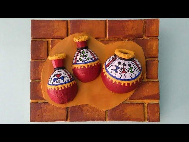 Coconut shell craft idea| Terracotta art on coconut shell