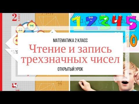 Открытый урок в начальной школе. Чтение и запись трехзначных чисел