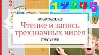 Чтение и запись трехзначных чисел. Открытый урок. Математика. 2 класс