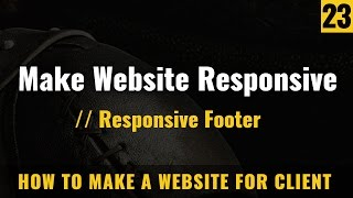 How to make responsive footer in webpage - How to make a website in Hindi / Urdu