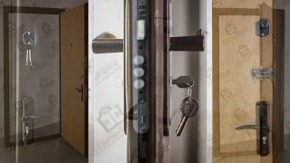 видео Металлическая дверь с винилискожей (замок Kale 257)