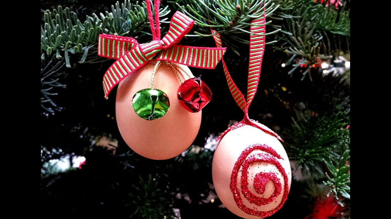 How to make Eggshell Christmas Ornaments! - YouTube