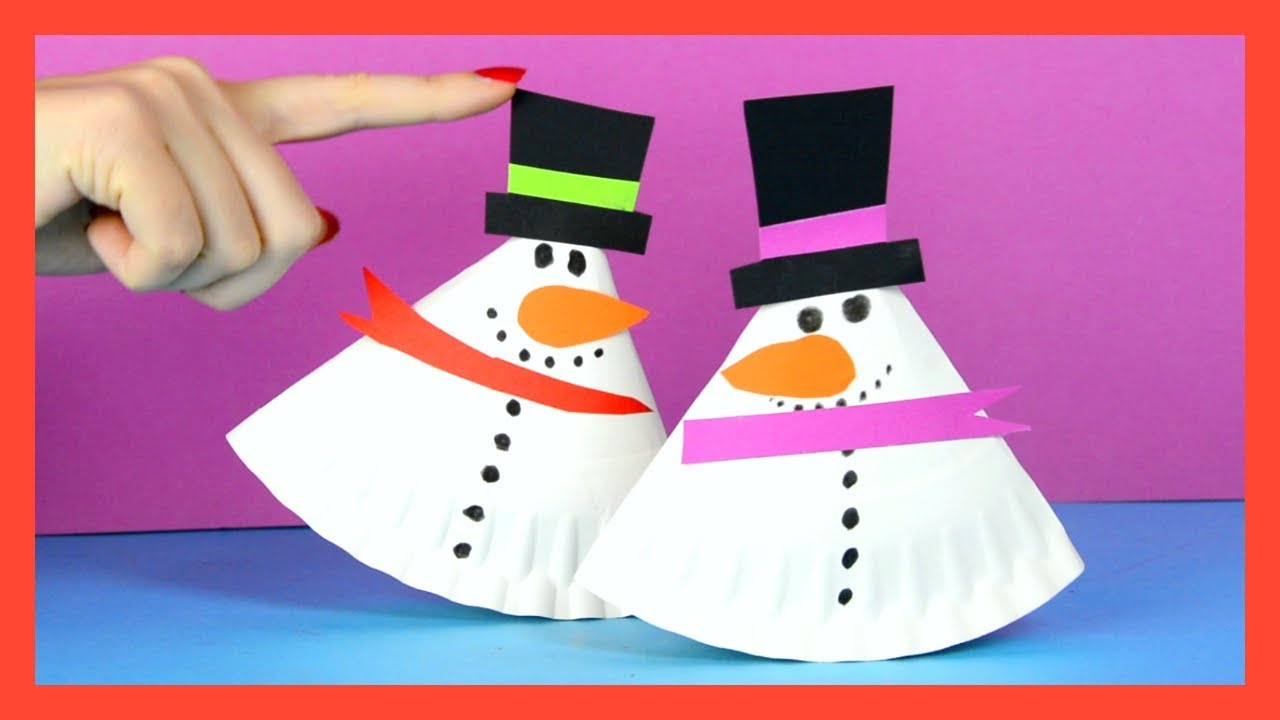Image result for rocking snowman paper plate