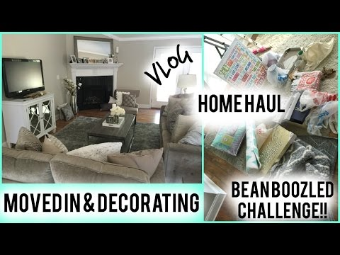 V: MOVED IN Decorating New chandelier & Rug- Home HAUL- Bean Boozled