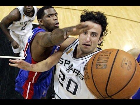2005 NBA Finals Game 6. San Antonio Spurs vs Detroit Pistons