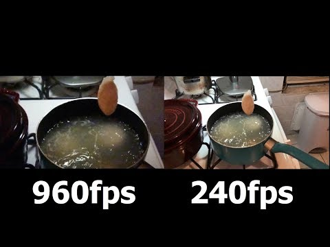 Sony Xperia XZ1 vs iPhone X Slow Motion COOKING Camera Test!