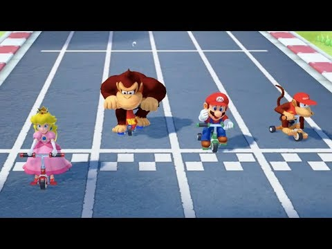 Super Mario Party - All Sports Minigames (Peach Gameplay)   MarioGamers
