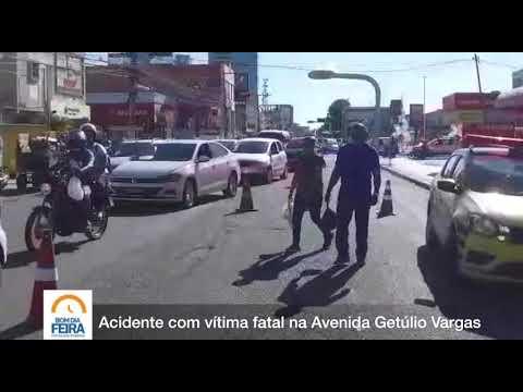 Acidente com vítima fatal na Avenida Getúlio Vargas