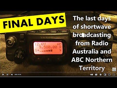 Radio Australia's last days on shortwave
