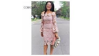 Стильное кружевное платье - Покупки с AliExpress
