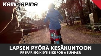 Lapsen pyörä kesäkuntoon