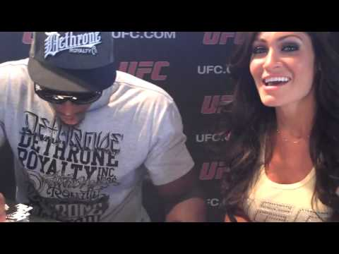 Miss Hooters International Lindsey Way with UFC Fighter Phil Davis