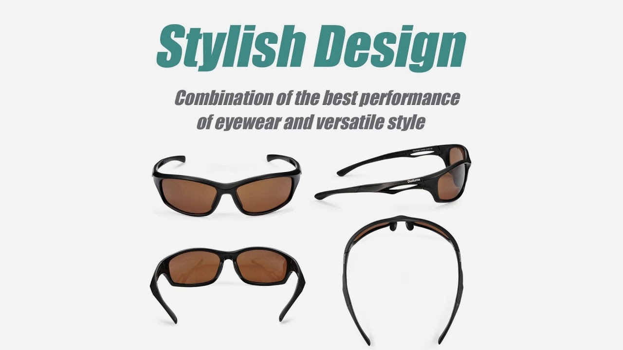 bd466e286b Duduma Polarized Sports Sunglasses for Running Cycling Fishing Golf ...