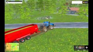 Farming Simulátor 2015 Multiplayer cz sekání dřeva + sklízení kukuřice,ukázka siláže