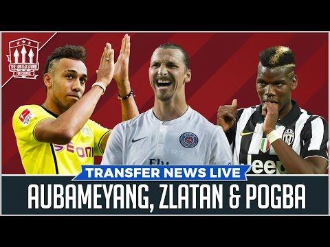 Man Utd Transfer News | Pogba Aubameyang Zlatan In/ De Gea Blind Out