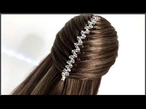 ZIG - ZAG RIBBON  BRAID / Hair Glamour /  Hairstyles - Braids