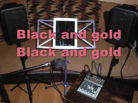black and gold by sam sparro karaoke backing track
