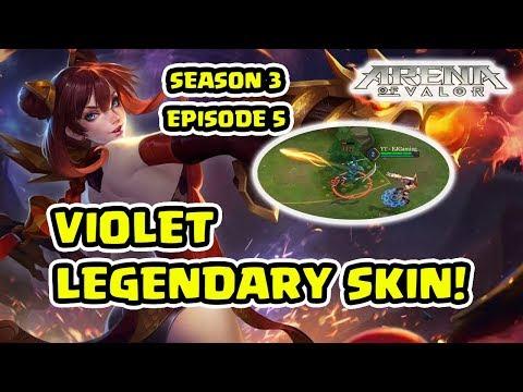 Violet Skin Legendary! Tips dan Trick Violet Jungler! S3 Episode 6 - Arena of Valor