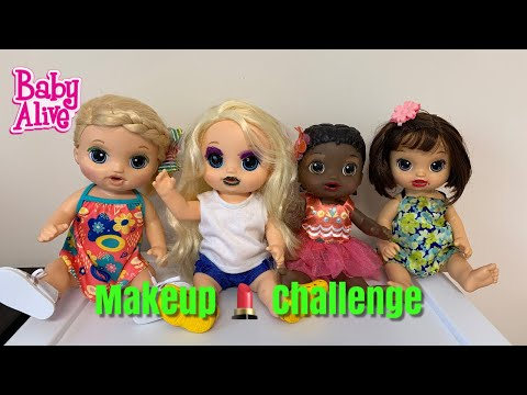 Baby Alive put on makeup! makeup 💄 Challenge thumbnail