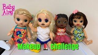 Baby Alive put on makeup! makeup 💄 Challenge