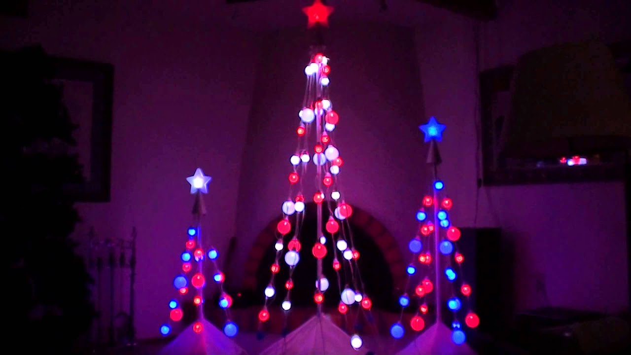 led color changing light show christmas tree 39 s no sound show youtube. Black Bedroom Furniture Sets. Home Design Ideas