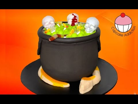 Bubbling Halloween Cauldron Cake with Giant Gummi Snake by Cupcake ...