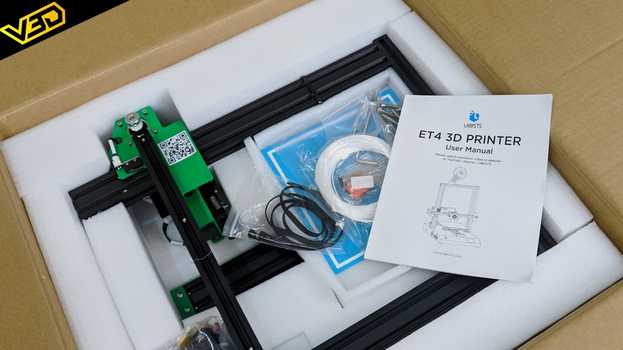 Labists ET4 3D Printer - Build, First Look, First Print