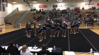 DRHS 2nd Round Competition Cheer Conference Tournament 10/21/2015