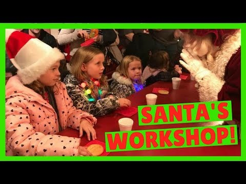 Kids go to the North Pole Experience in Flagstaff