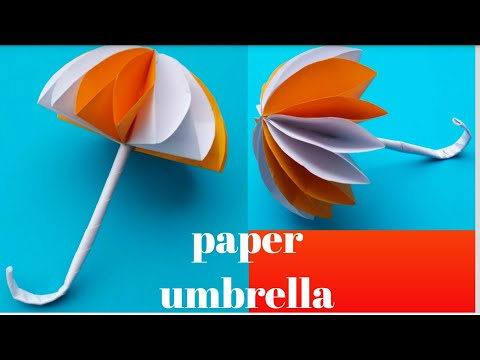 Cute And Beautiful Paper Umbrella. Easy To Make. Ramithas art and crafts.