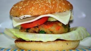 Veg Burger Recipe on Tawa | Veggie Burger | Indian Style Patti Burger