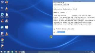 Powercenter Informatica 9.6.1 Server Client installation on Windows