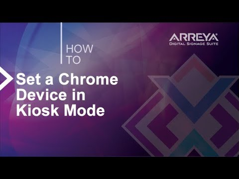Setting a Google Chrome Device in Kiosk Mode