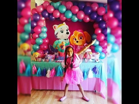 Fiesta de everest y skye pawpatrol ni a party girls 2017 - Decoracion infantil cumpleanos nina ...