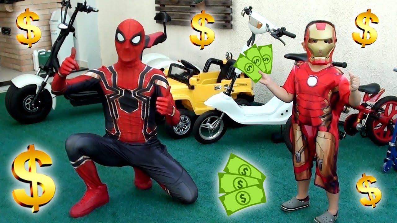 Loja de Veículos do Homem Aranha! Spiderman Vehicle Store! Vehicle Shop!
