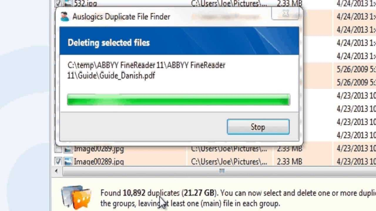 how to find and delete duplicate files on my computer
