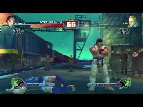 Street Fighter IV - Ryu Arcade Playthrough (1/2) [HD]