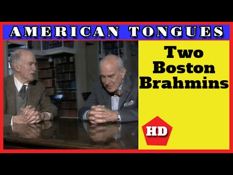 """A dying race"" - two Boston Brahmins converse - American Tongues episode #9"