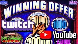 🔴 TWITCH VS. YOUTUBE ★ WINNING OFFER SLOT MACHINE ★ LIVE CHAT & COMPETITION!!