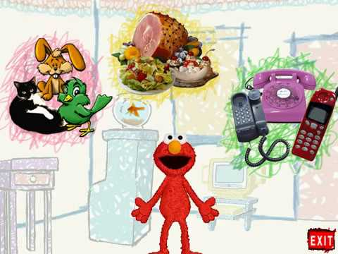 Elmo's World Pets, Food & Telephones! (PC Game)