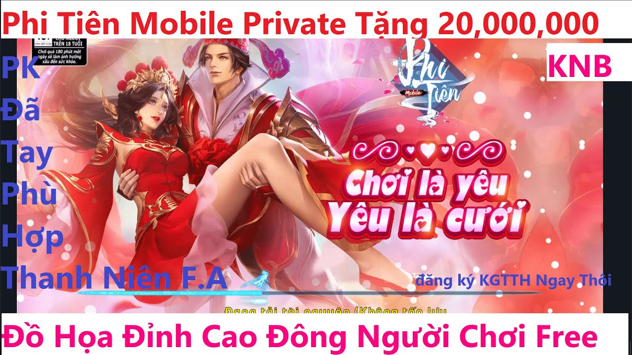Game Lậu Mobile 2020 Tru Tiên Mobile 2020 Tặng 20 triệu KNB Free Vip 8